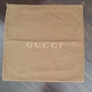 Gucci XL dust cover bag, brown, lined